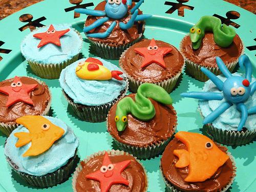aquarium cupcakes