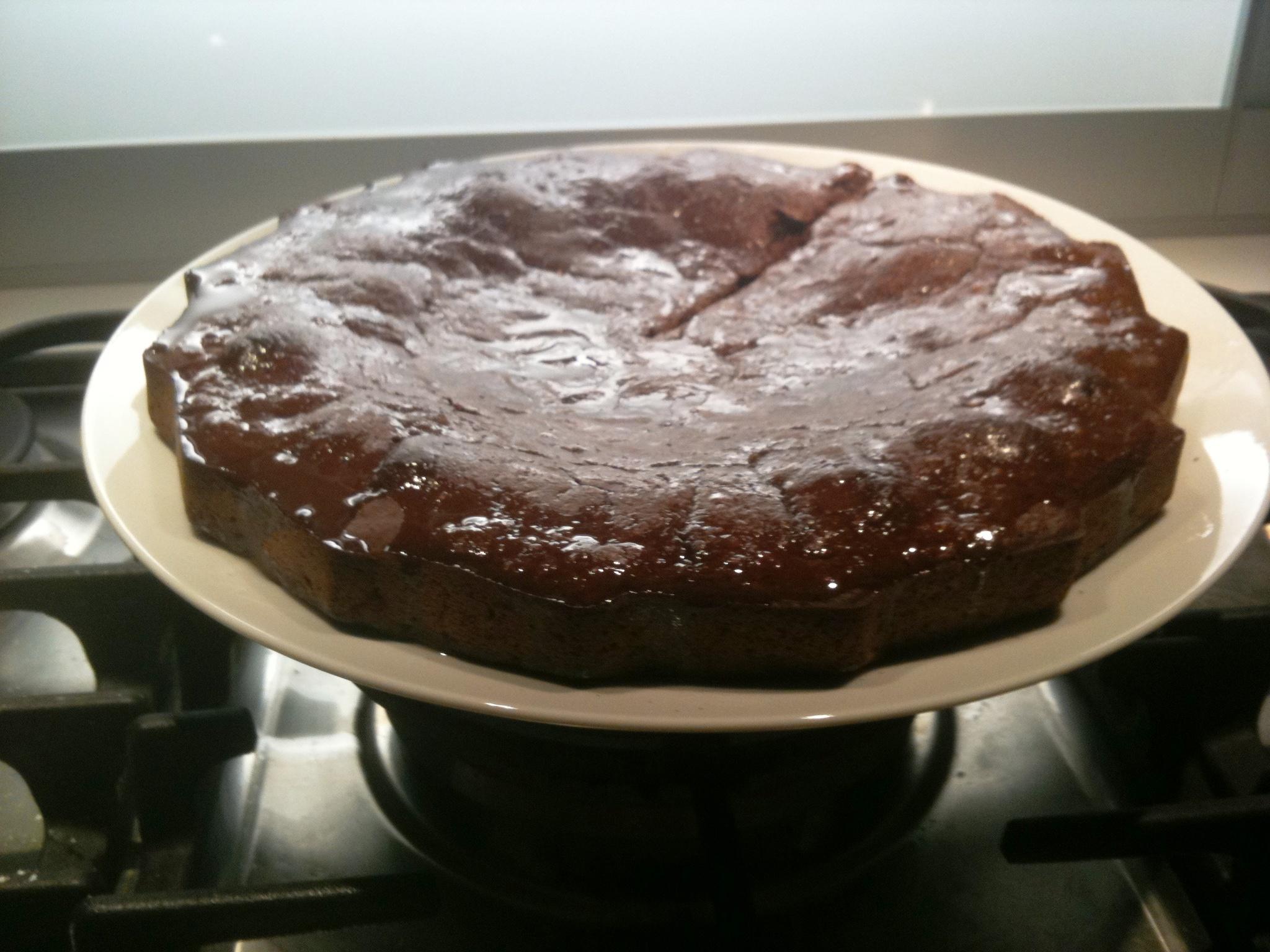Torta di farina di castagne, mele e cacao