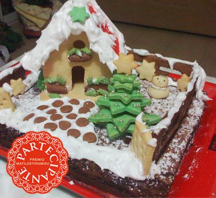Casette Dolci Di Natale.Casetta Di Frolla Su Delizia Al Cioccolato