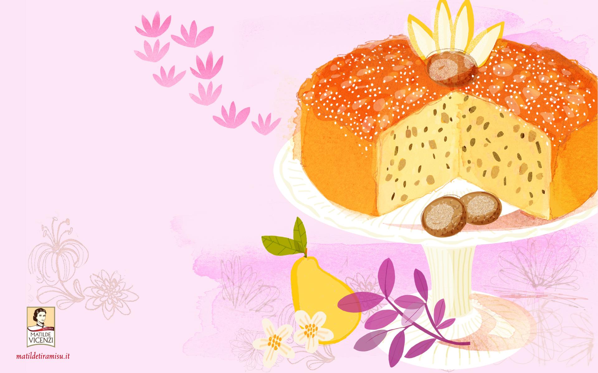 Omaggio per voi lo sfondo scrivania PC con ricetta di torta