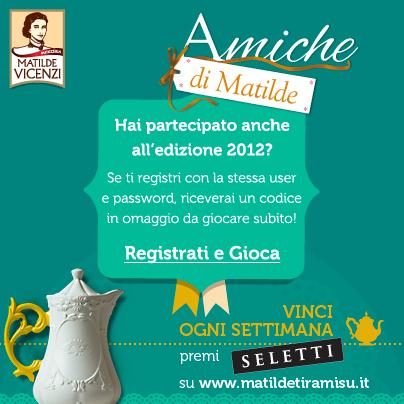 Codice omaggio concorso amiche di Matilde Vicenzi