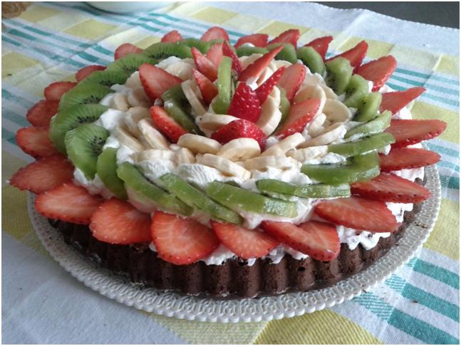 torta cacao alla frutta