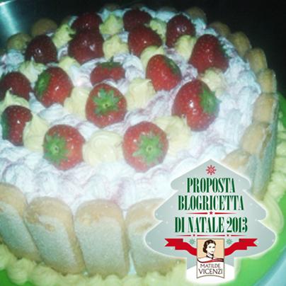 Torta decorata con savoiardi per Matilde