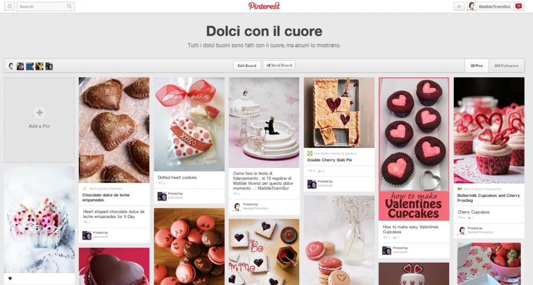 I dolci con il cuore di Matilde Vicenzi, da Pinterest