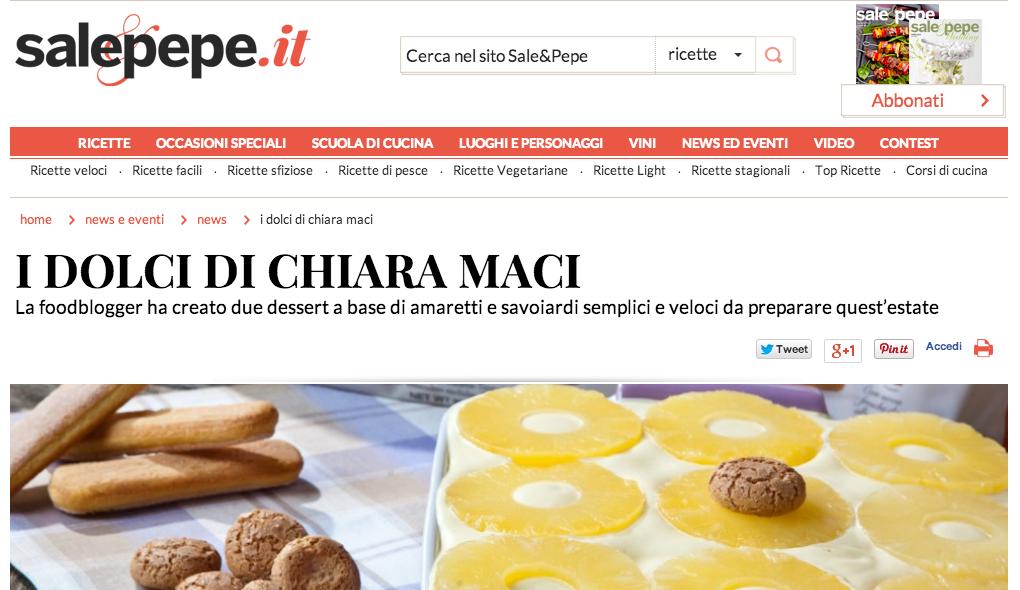 Tirami Su all'Ananas di Chiara Maci con Savoiardi Vicenzi