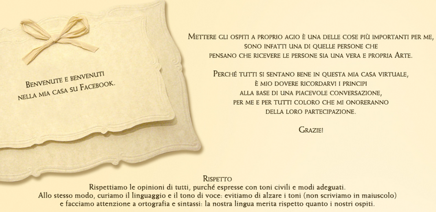 Il galateo di Matilde Vicenzi su Facebook