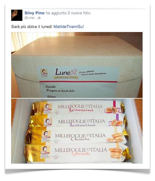 Matilde Vicenzi regala le Millefoglie, con LuneSì!
