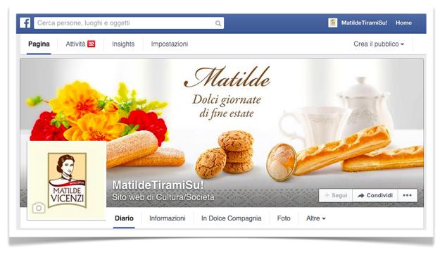 La pagina Facebook di Pasticceria Matilde Vicenzi