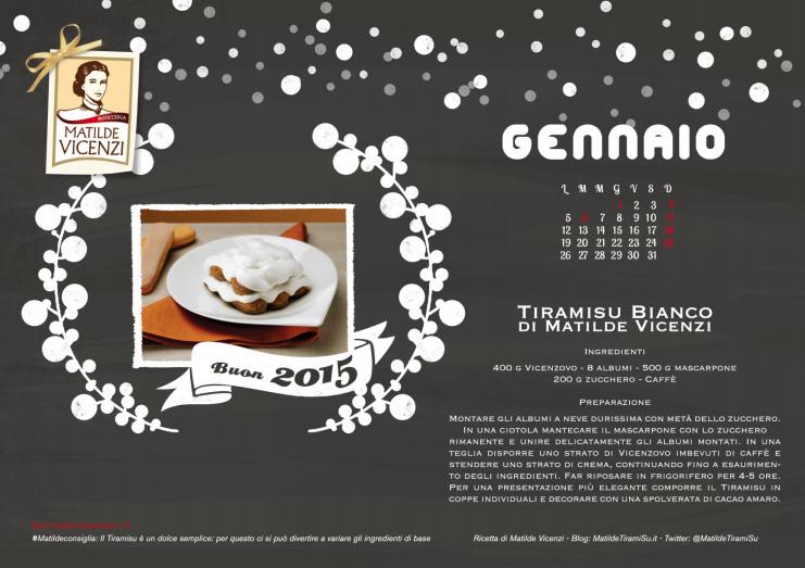 Da Matilde Vicenzi, il Calendario del TiramiSu 2015 in omaggio per te!