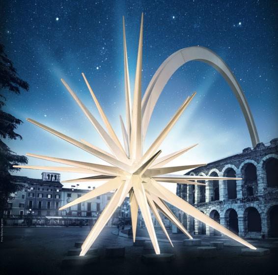 Stella di Natale in Piazza Bra a Verona