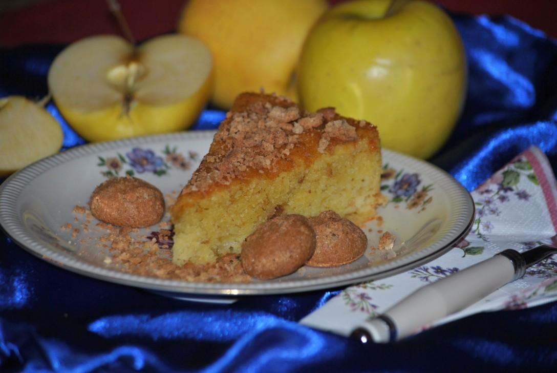 torta-mele-amaretti