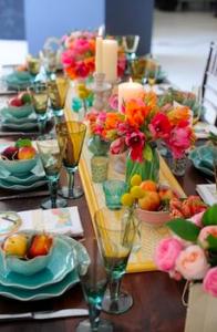 La tavola dell'estate: allegra e multicolore!