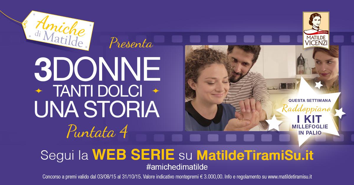 Web Serie Amiche di Matilde: la puntata 4 raddoppia i premi!