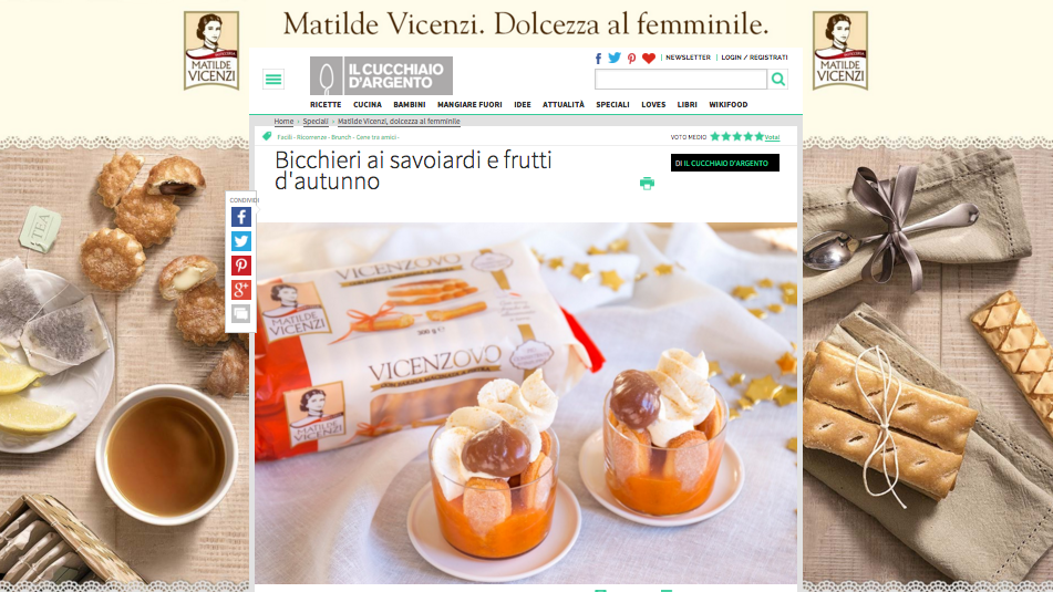ricette di dolci Matilde Vicenzi su Cucchiaio.it