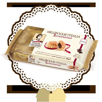 Millefoglie d'Italia, Bocconcini ripieni di crema al cioccolato