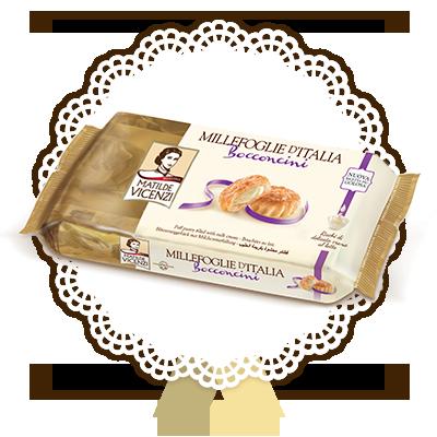 Millefoglie d'Italia, Bocconcini ripieni di crema al latte