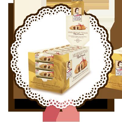 Millefoglie Mini Snack con crema alla nocciola
