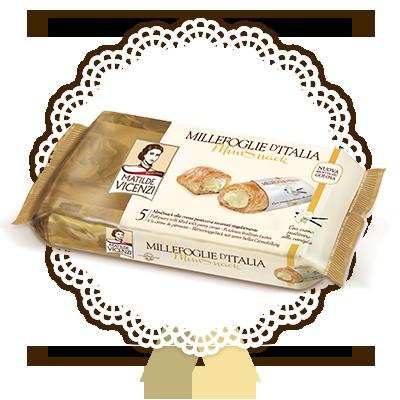 Millefoglie d'Italia, Mini Snack con crema pasticcera