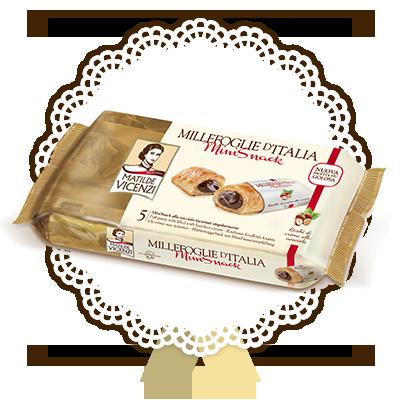 Millefoglie d'Italia, Mini Snack con crema alla nocciola