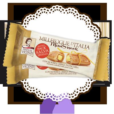 Millefoglie Mini Snack con crema pasticcera