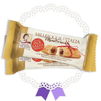 Millefoglie Mini Snack con morbida crema alla nocciola