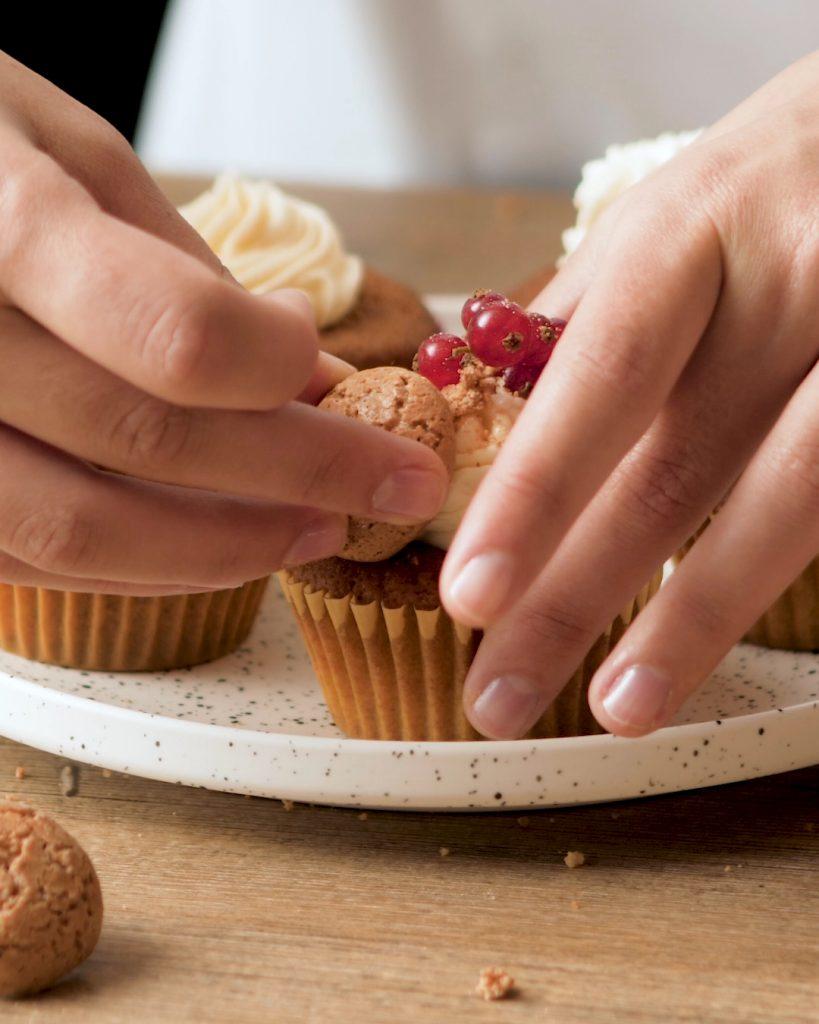 Cupcake torroncino e Amaretti d'Italia